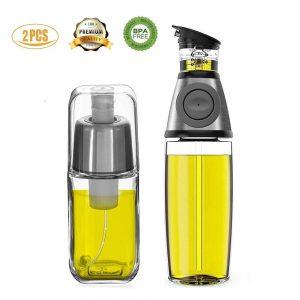 Das Set von Fifilary mit Öl Sprühflasche und Öl Zerstäuber Test.