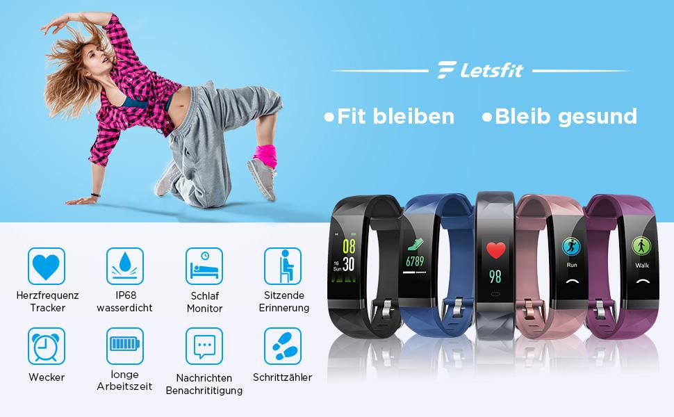Letsfit Fitness Tracker Test