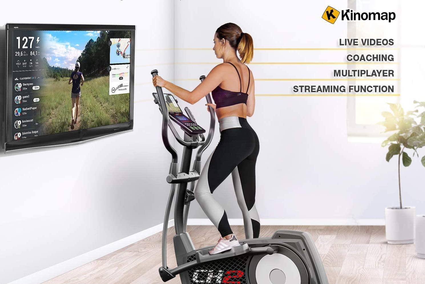 Kinomap funktioniert hervorragend mit dem CX2 Crosstrainer.