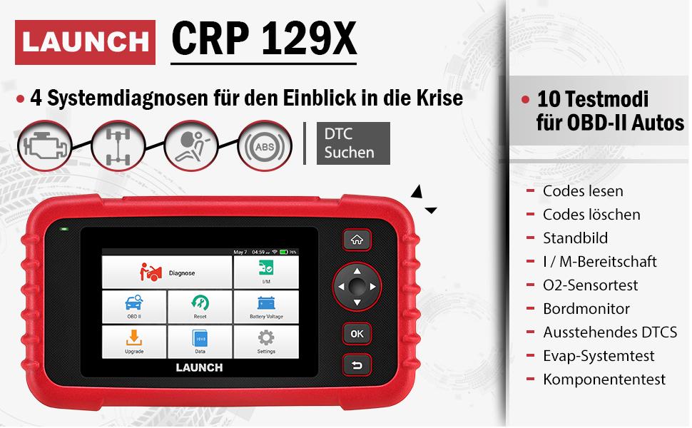 OBD2 Diagnosegerät CRP129X